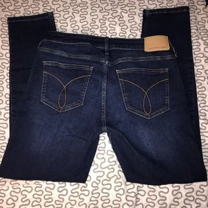 Dark Wash Calvin Klein Ankle Skinny Jeans